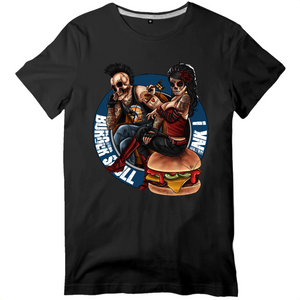 Collection Le comics'Art de Sam - The Burger Tattoo - T-SHIRT HOMME - 100% COTON