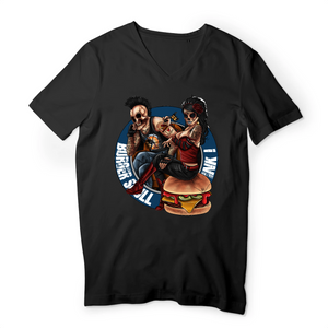 Collection Le comics'Art de Sam - The Burger Tattoo - T-SHIRT HOMME COL V - 100 % COTON BIO - TM044
