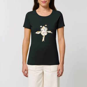 Collection Katyka - Girafe - T-SHIRT FEMME 100% COTON BIO - EXPRESSER