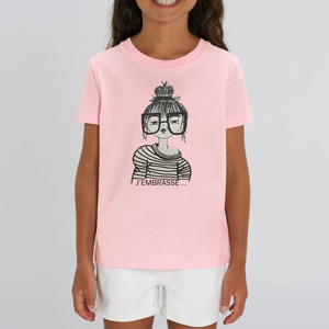 Collection Benjo - J'embrasse - T-SHIRT ENFANT - COTON BIO - MINI CREATOR