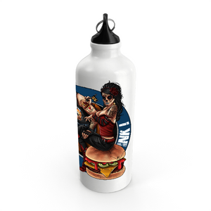 Collection Le comics'Art de Sam - The Burger Tattoo - GOURDE / BOUTEILLE EN ALUMINIUM - IMPRESSION CIRCULAIRE