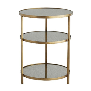 Percy End Table - Antique Brass