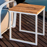 Load image into Gallery viewer, Nautic Square Side Table - White Wash