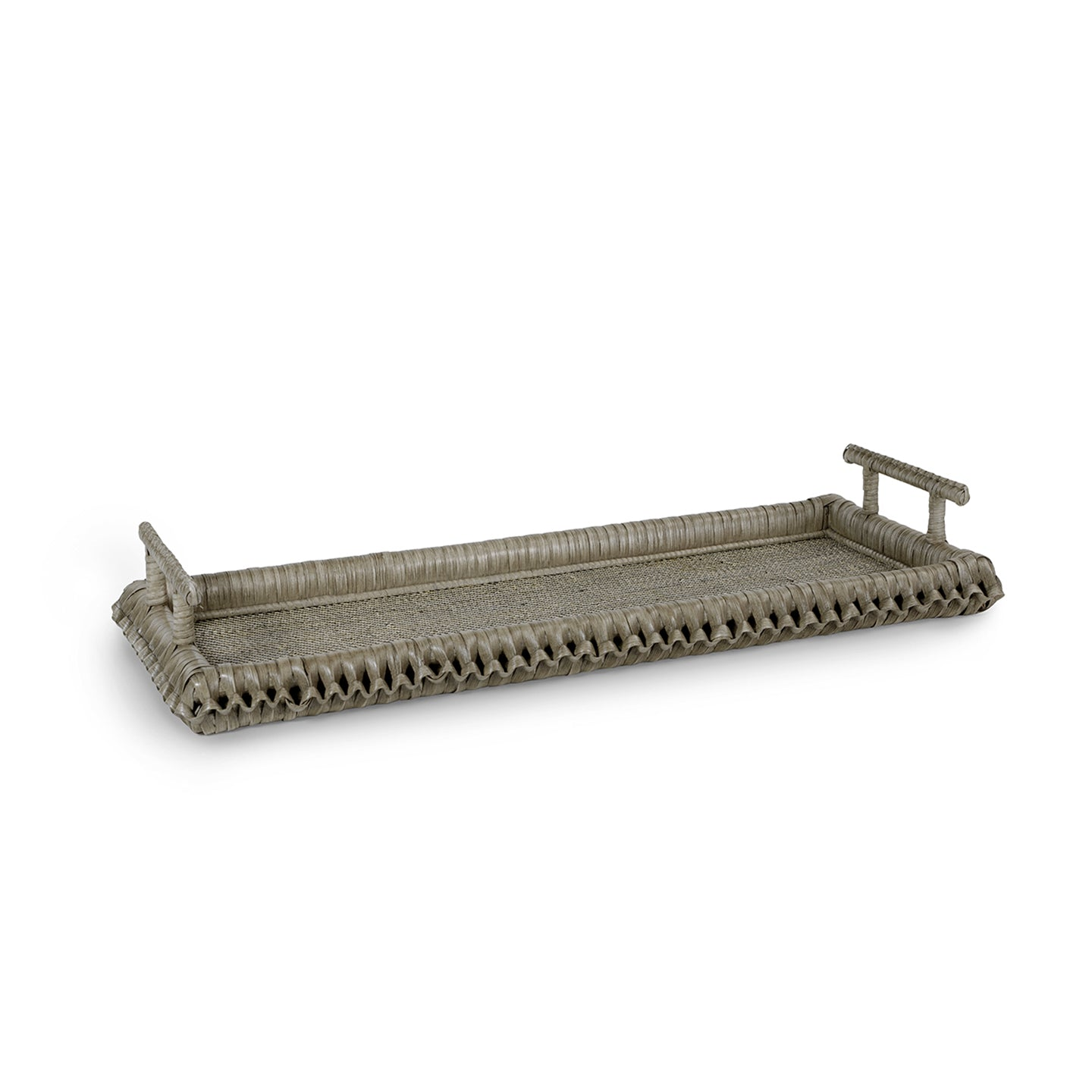 Kenis Braided Rectangle Tray - Grey