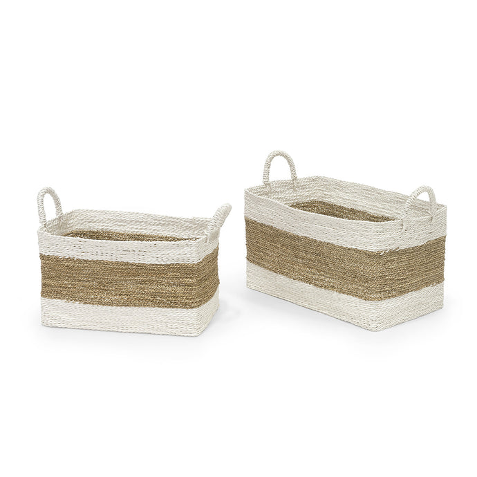Tanna Rectangle Baskets, Set of 2