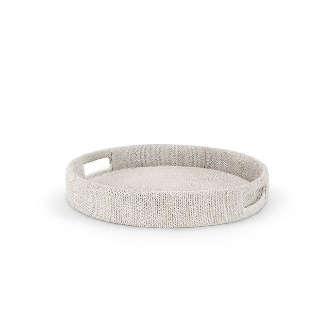 Monarch Round Tray, Sm, Wht Sand