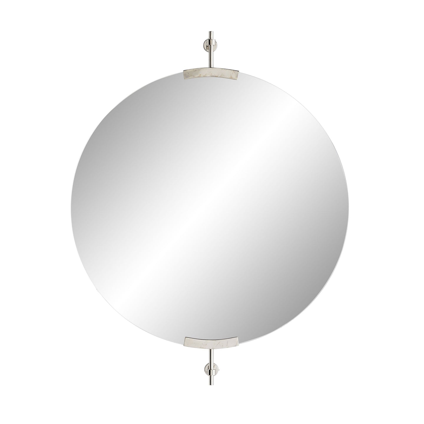 Madden Round Mirror - Polished Nickel