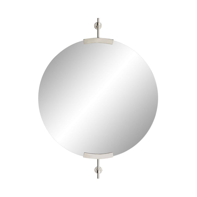 Madden Small Round Mirror - Polished Nickel