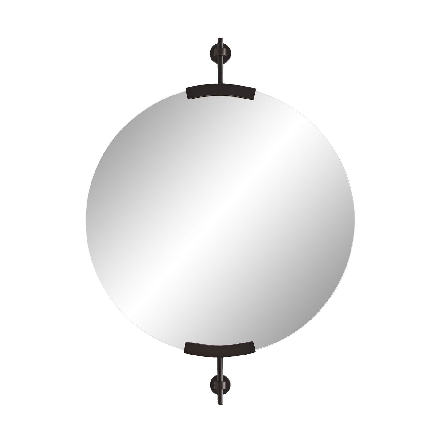 Madden Small Round Mirror - Bronze