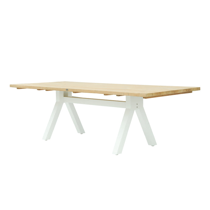 Alaska Rectangular Dining Table Small - White Matte