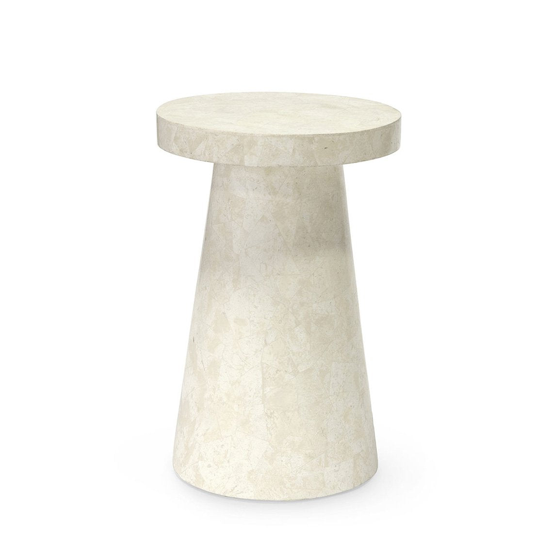 Foley Stone Od Side Table Tall, White