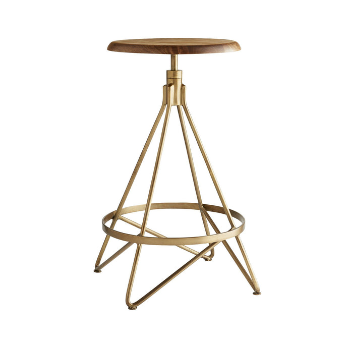 Wyndham Swivel Counter Stool - Natural Wax