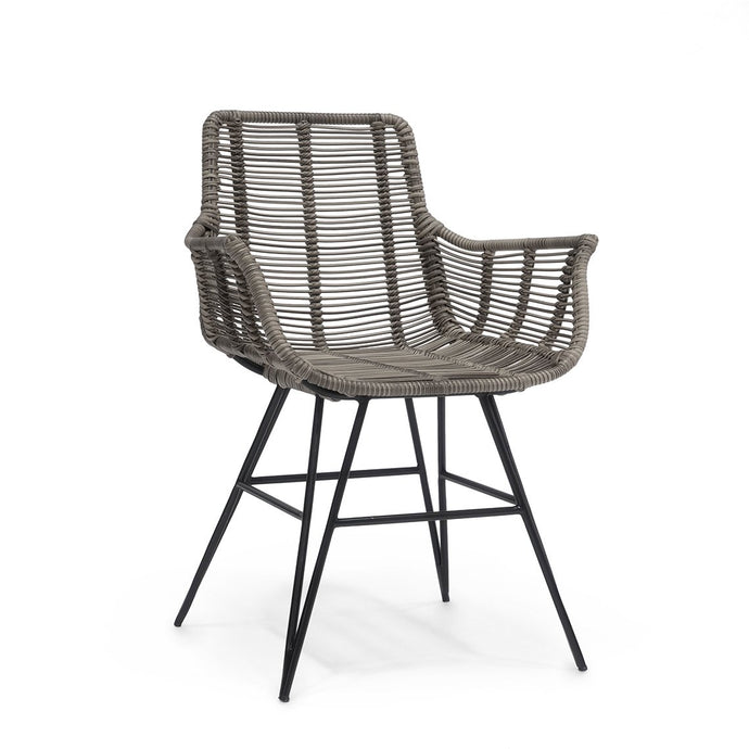 Hermosa Outdoor Arm Chair, Grey