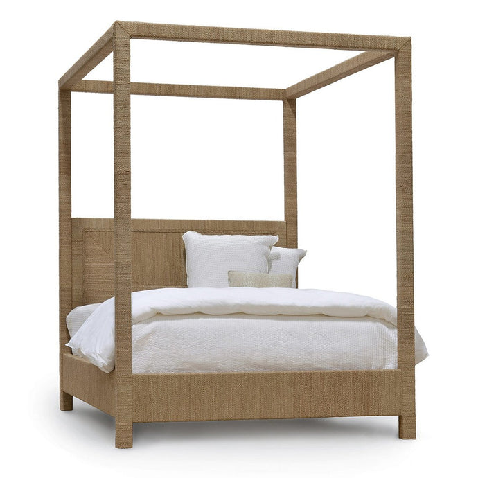 Woodside Canopy Bed, King, Natural