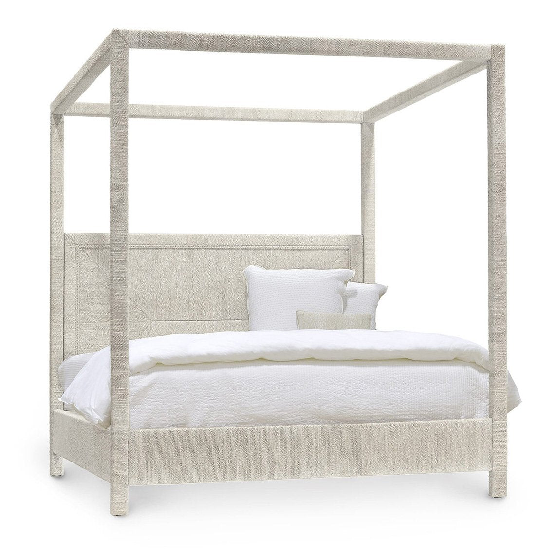 Woodside Canopy Bed, King, Wht Snd