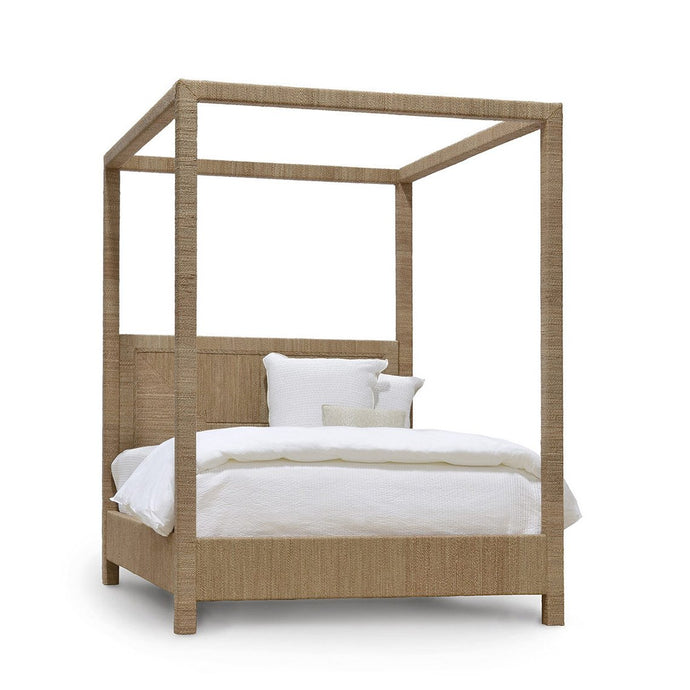 Woodside Canopy Bed, Qn, Natural