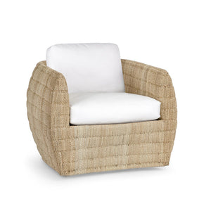 Ventura Swivel Lounge Chair, Natural