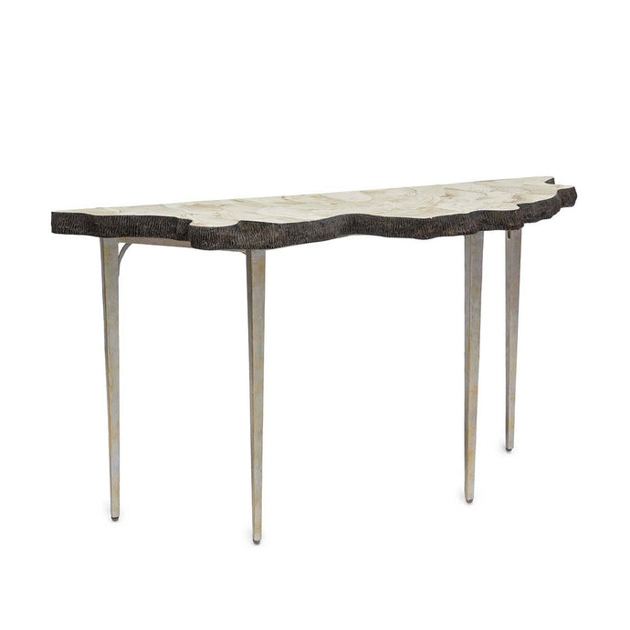 Chloe Fossilized Clam Console Tbl