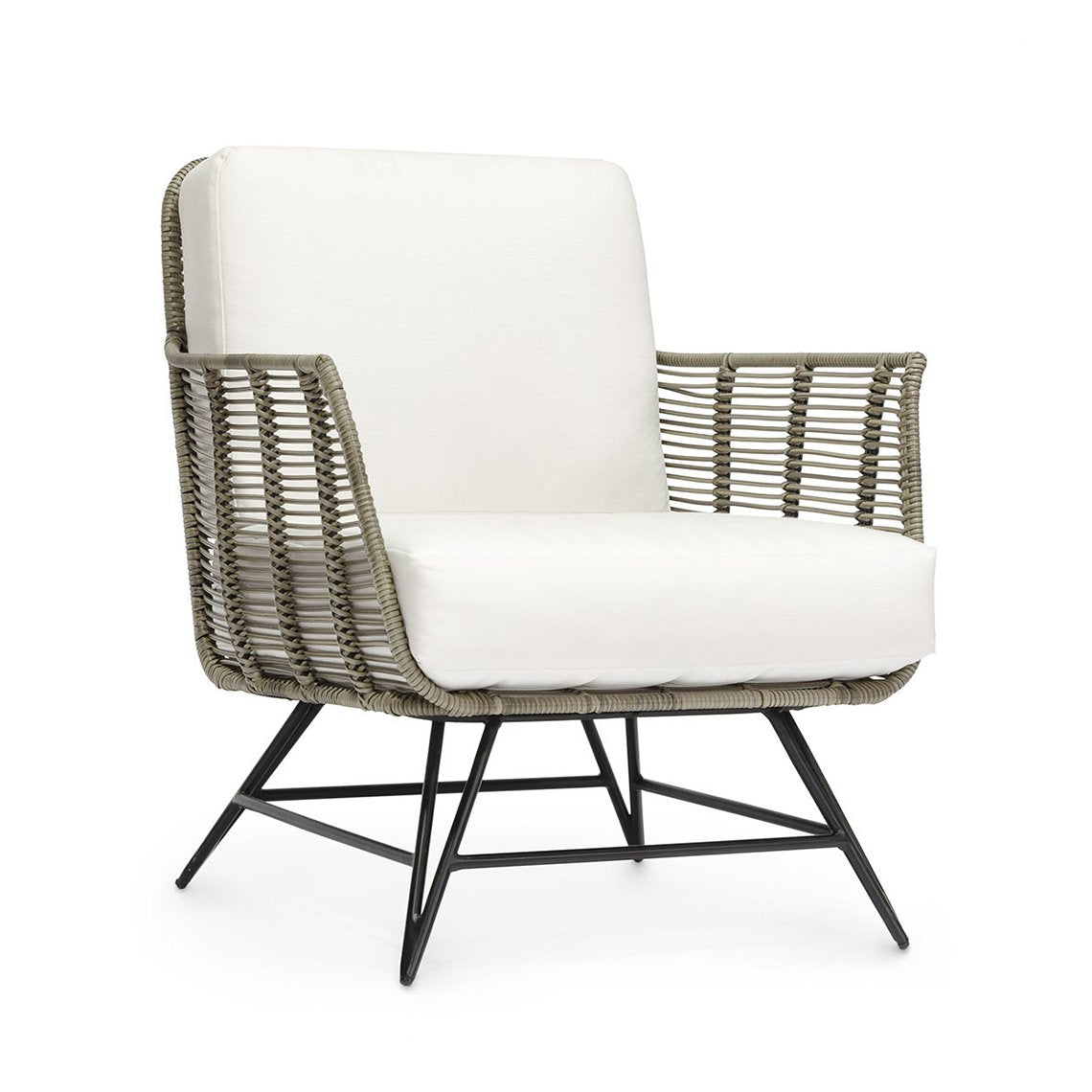 Hermosa Outdoor Lounge Chair, Grey