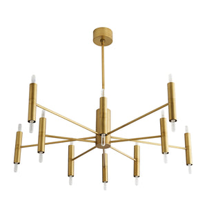 Bozeman Chandelier - Antique Brass