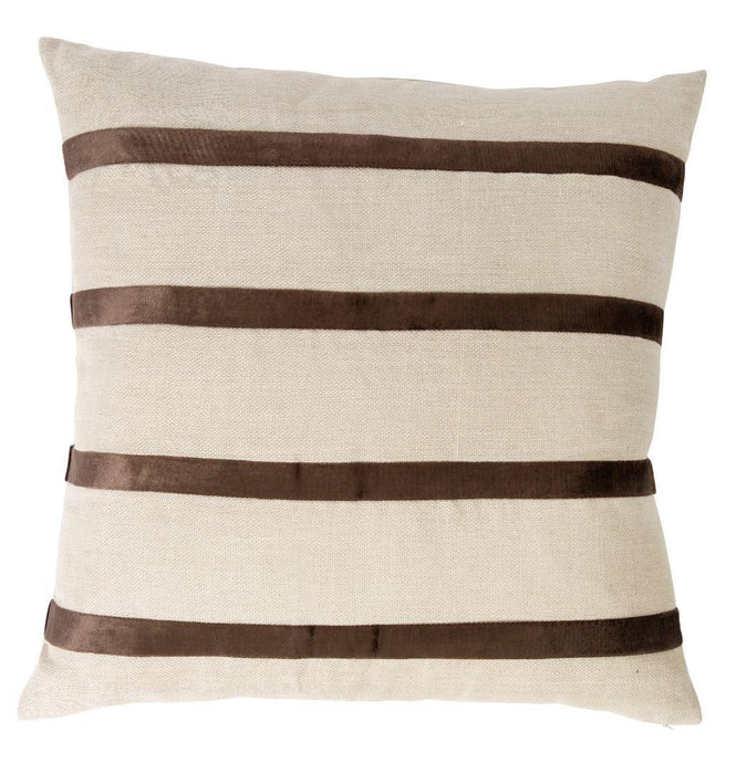 Boulevard Chocolate Stripe Scatter Cushion