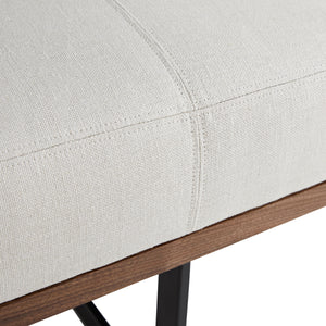 Tuck Bench Bone Linen