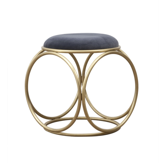 Brass Rings Fabric Top Stool