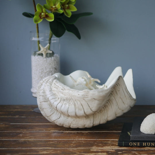 Giant Resin Stone Clam | Matte Finish | 50cm - Suzie Anderson Home