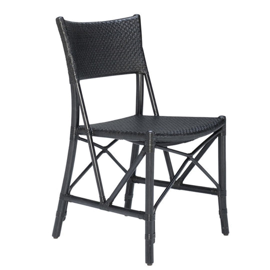 Panini Handwoven Rattan Interior Chair | Ebony/Black Frame - Suzie Anderson Home