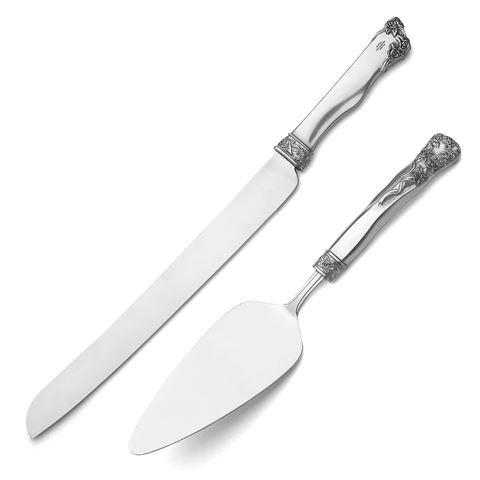 Roses & Ribb Cake Server & Knife Set - Suzie Anderson Home