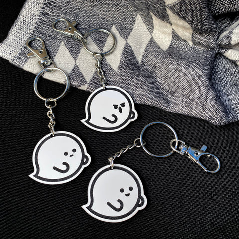 Emotive Ghost Keychain