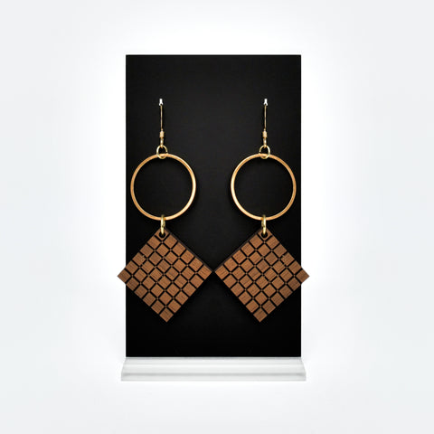 Helium Earring (Wood)