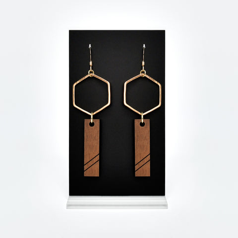 Hydrogen Earrings (Wood)