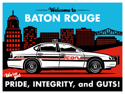 Icon BRPD Screen Print Poster