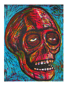 Sean Star Wars Skull Woodcut Print