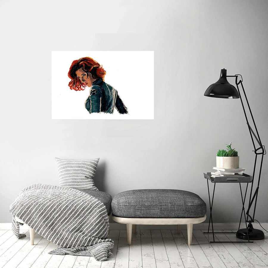 Black Widow Art Print Poster
