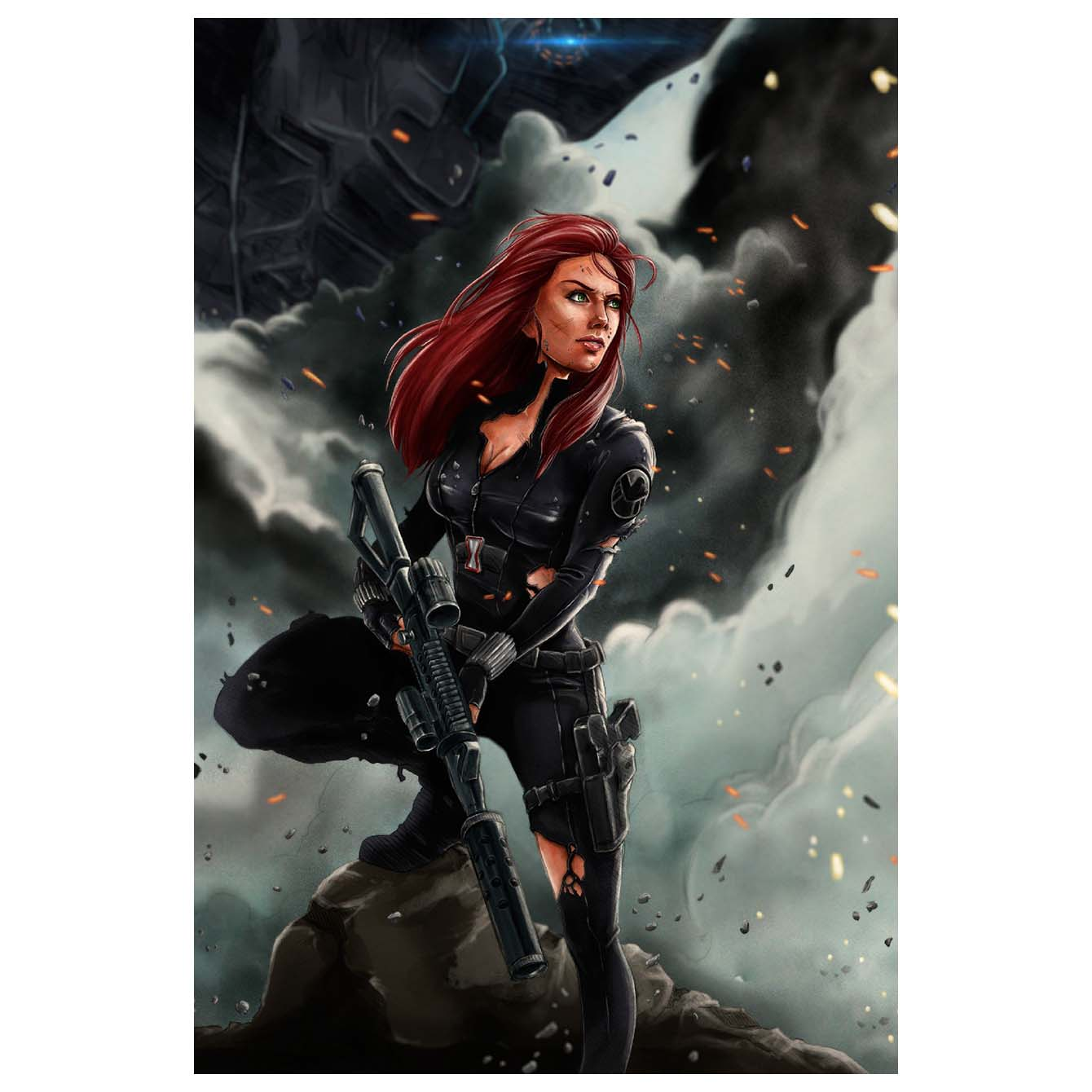 Black Widow Action Poster