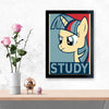 Study Unicorn Education Glass Framed Posters & Artprints