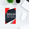 Dream Big Work Hard Motivational Post Cards Online