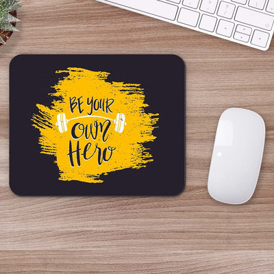 Buy Be Your Own Hero Gym Mouse Pads Online