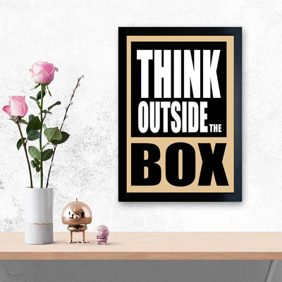 Think Outside The Box Motivational Glass Framed Posters & Artprints