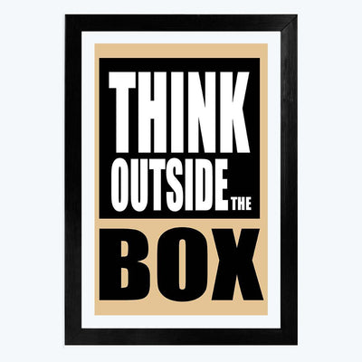 Think Outside The Box Framed Poster