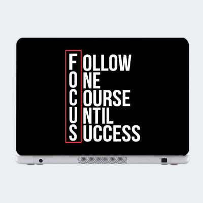 Focus Motivational Laptop Skin Online