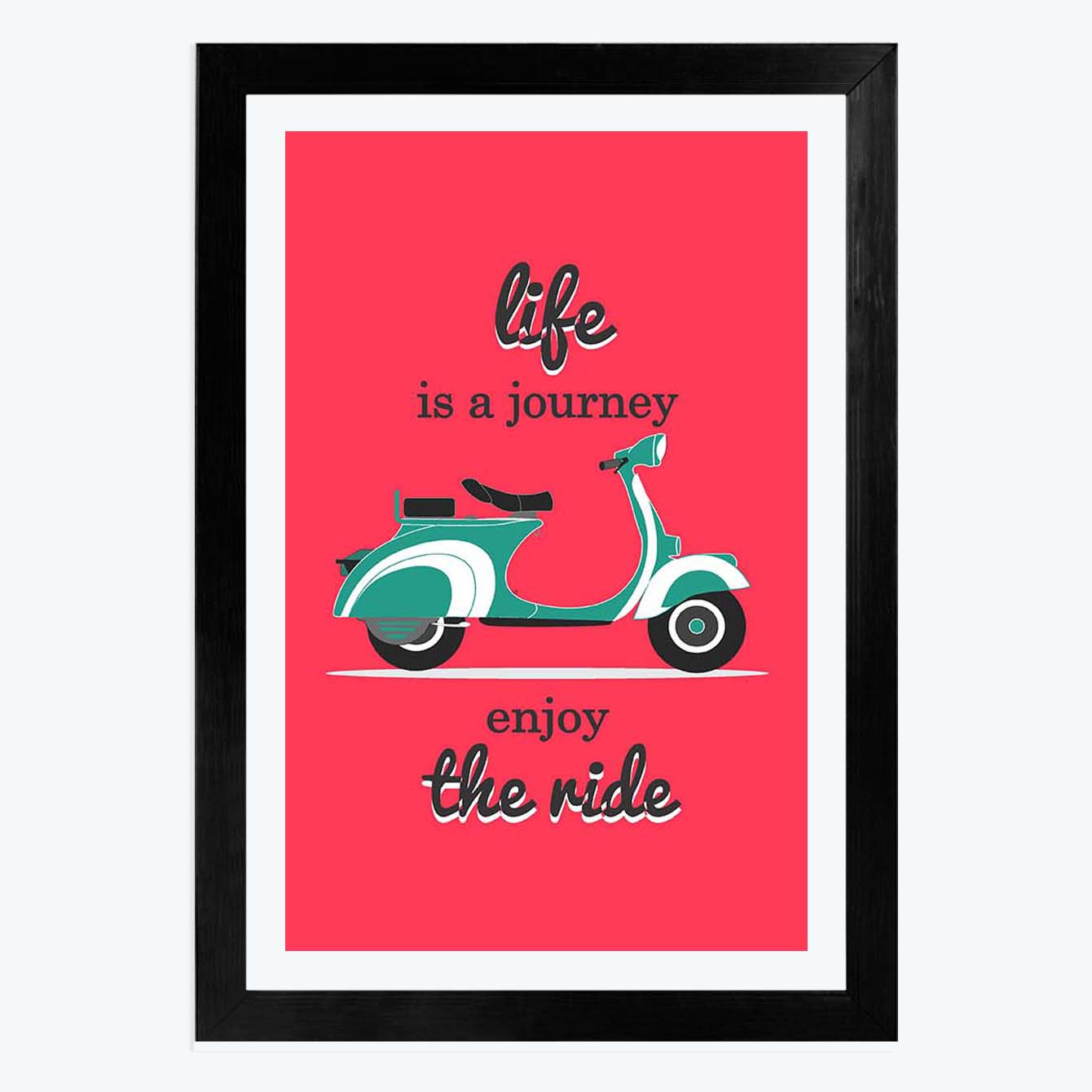 Life is a Journey Framed Poster