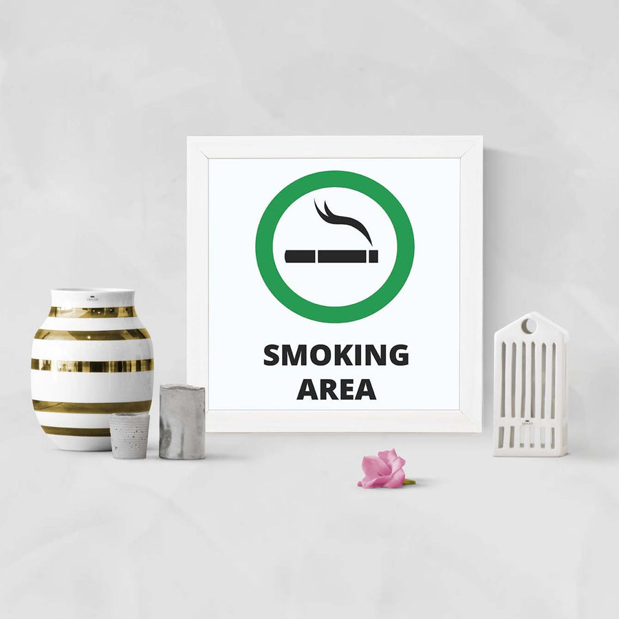 Smoking Area   Framed Poster