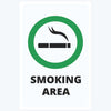 Smoking Area Sign Posters