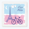 Love In Paris Abstract Glass Framed Posters & Artprints