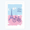 Love In Paris   Framed Poster