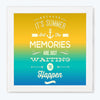 It's Summer Memories Typography Glass Framed Posters & Artprints