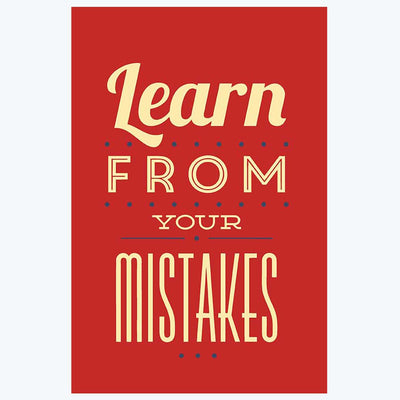 Learn From Your Mistakes Motivational Posters